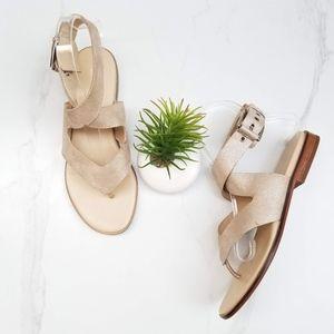 Donald J. Pliner LOLA2 Gold Metallic Thong Sandals